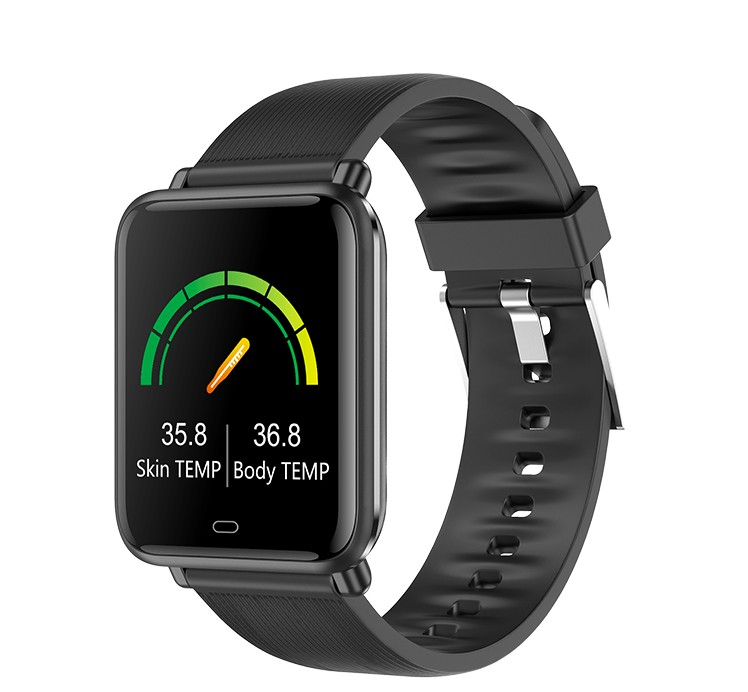 1.3 inch Q9T smart watch waterproof smart bracelet body temperature wristband with Daily reminder
