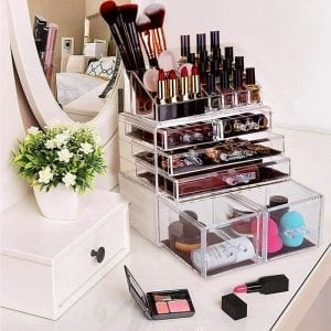 Professional Women Drawer and 16 Grids Clear Acrylic Makeup Organizer-Dropshipping Available