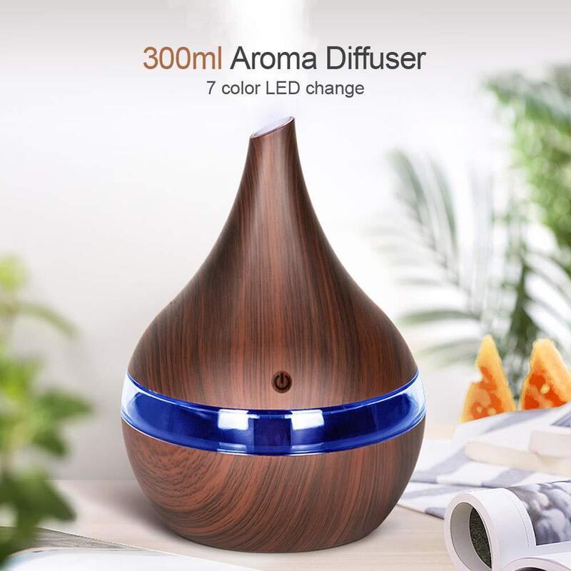USB Ultrasonic Air Diffuser in Light or Dark Wood_3