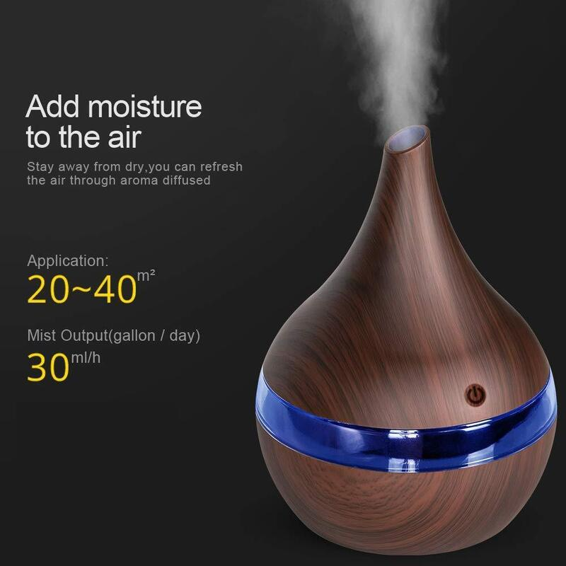 USB Ultrasonic Air Diffuser in Light or Dark Wood_5