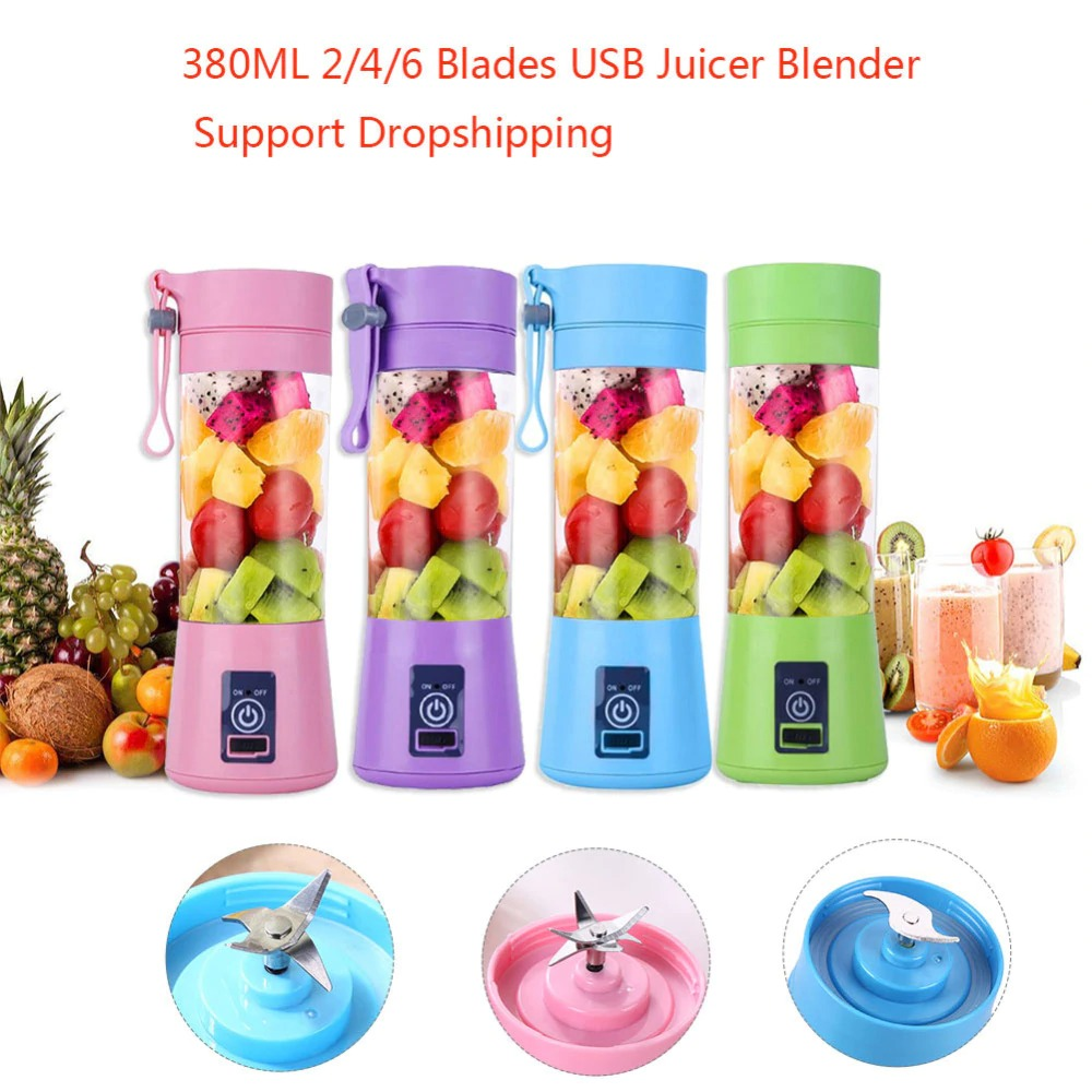 4-Blade Portable Blender Handy Powerful and Colorful_5