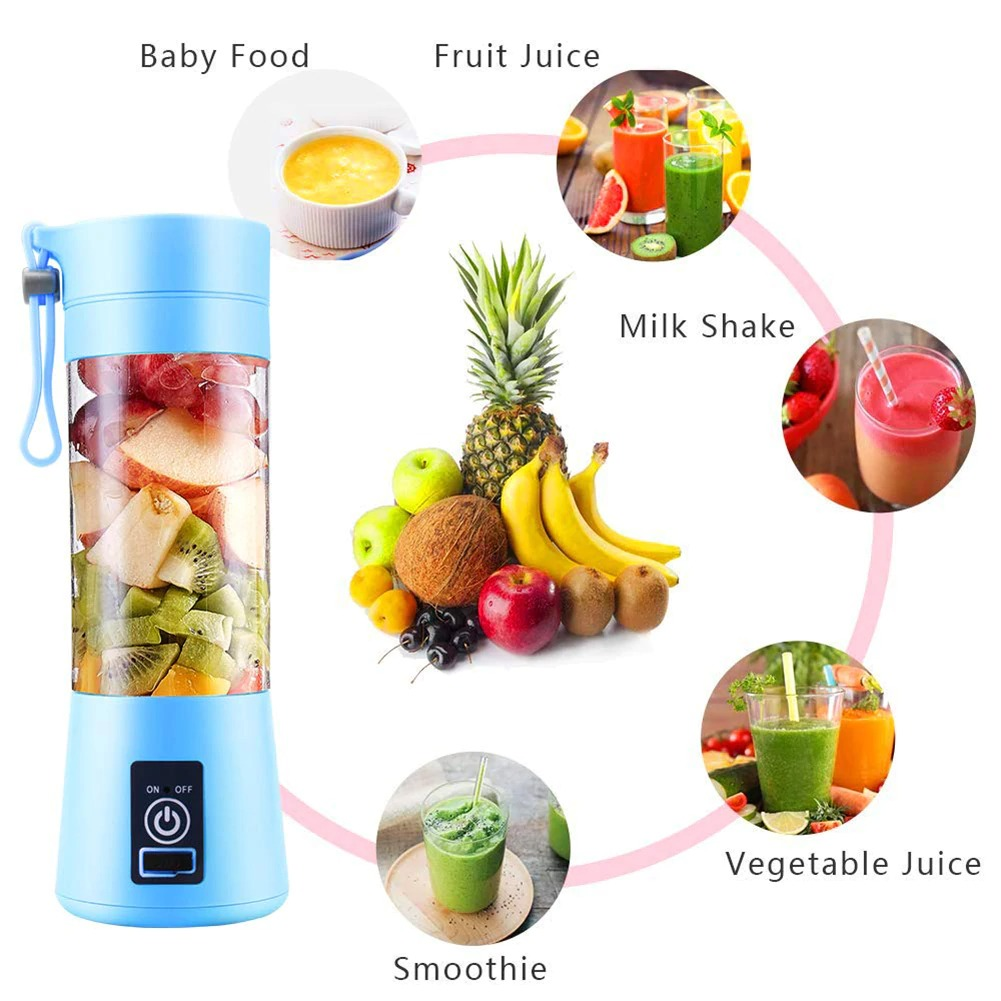 4-Blade Portable Blender Handy Powerful and Colorful_6