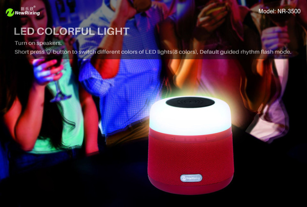 Portable Light LED Wireless Charger Bluetooth Speaker with Microphone Handheld USB_5