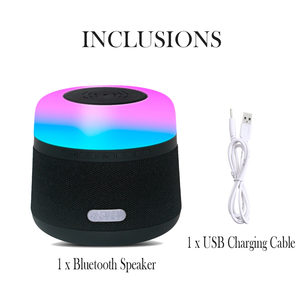 Portable Light LED Wireless Charger Bluetooth Speaker with Microphone Handheld USB_9