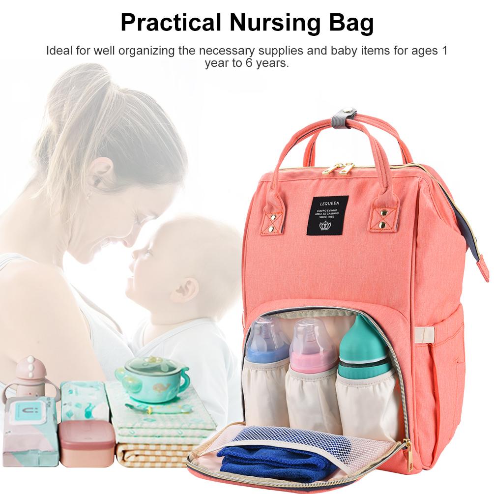 Large Capacity Nursing Nappy Backpack Handbag for Women and Travel_8