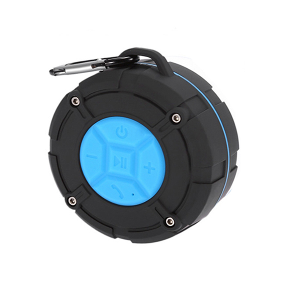 Waterproof Bluetooth Speaker with HD Sound, 6H Playtime Portable Speaker with Suction Cup, Built-in Microphone_2