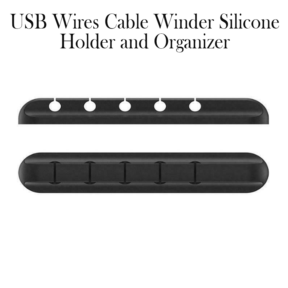 USB Wires Cable Winder Silicone Holder and Organizer Desktop Tidy Management Clips Cable Holder Organizer_4