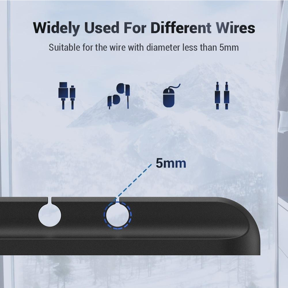 USB Wires Cable Winder Silicone Holder and Organizer Desktop Tidy Management Clips Cable Holder Organizer_9