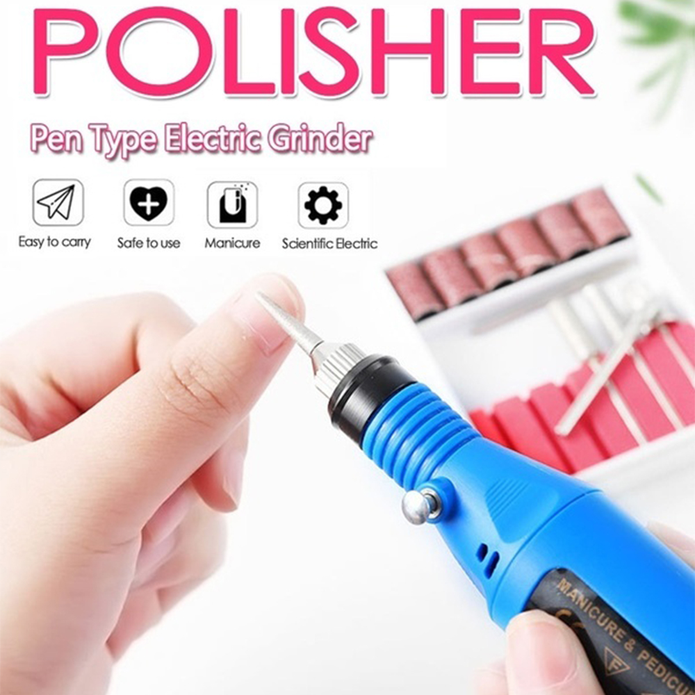 1 Set Professional Electric Nail Manicure Pedicure Drill Set Machine for Ceramic Gel Nail Drill Equipment Tools_4