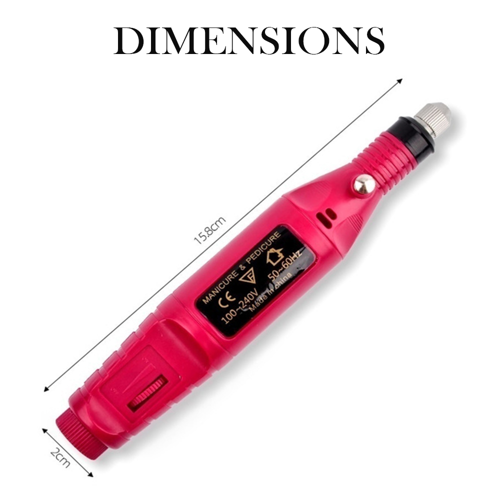 1 Set Professional Electric Nail Manicure Pedicure Drill Set Machine for Ceramic Gel Nail Drill Equipment Tools_9