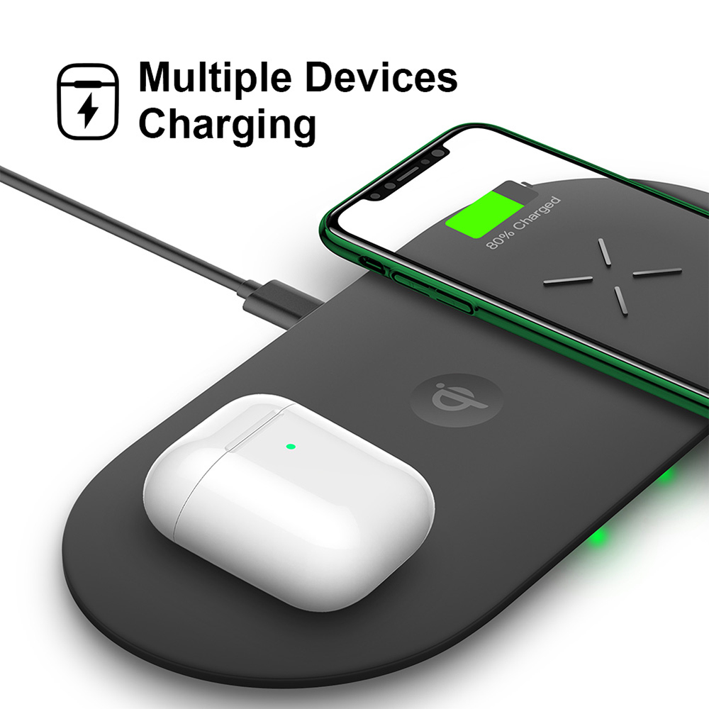 18W 3-in-1 Fast Charging Wireless QI Charger Pad for Apple, Samsung, Apple Watch and AirPods_9