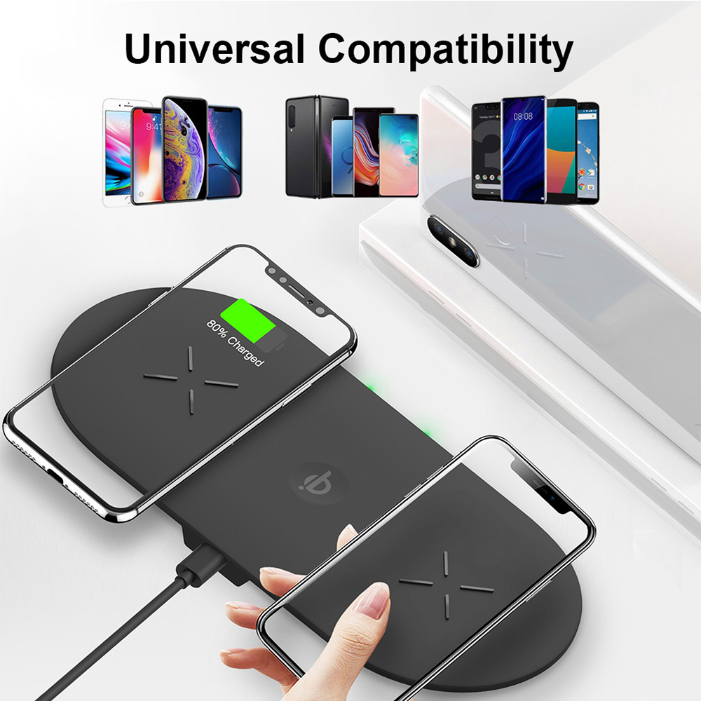 18W 3-in-1 Fast Charging Wireless QI Charger Pad for Apple, Samsung, Apple Watch and AirPods_1