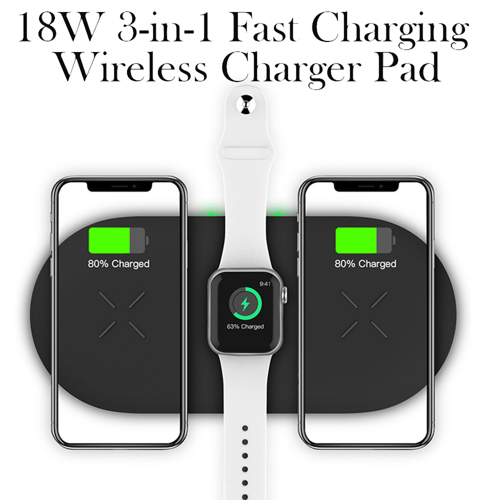 18W 3-in-1 Fast Charging Wireless QI Charger Pad for Apple, Samsung, Apple Watch and AirPods_4