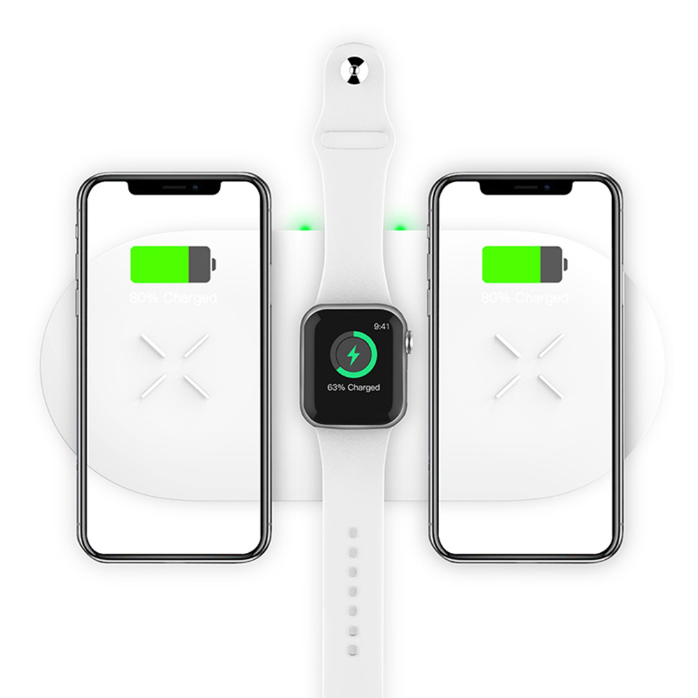 18W 3-in-1 Fast Charging Wireless QI Charger Pad for Apple, Samsung, Apple Watch and AirPods_6