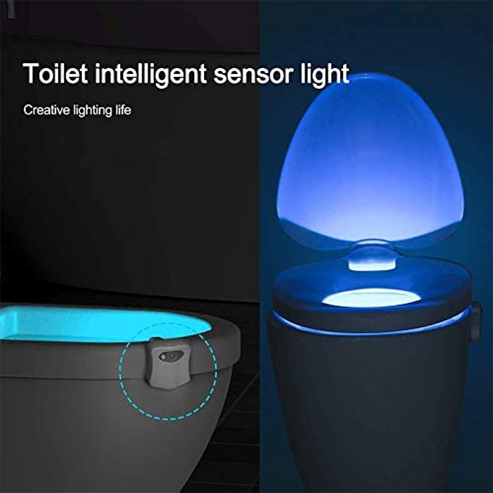 Smart Waterproof Motion Sensor Toilet Seat Night Light in 8 Colors_3