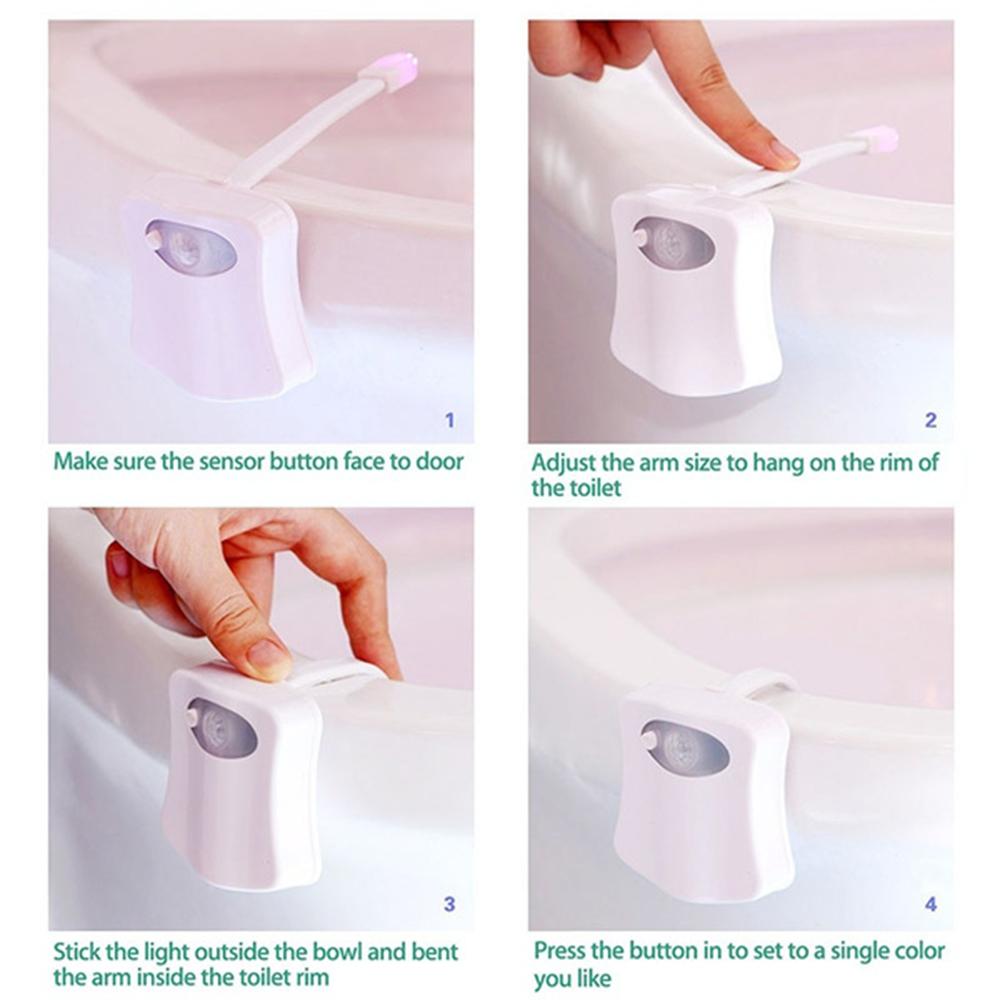 Smart Waterproof Motion Sensor Toilet Seat Night Light in 8 Colors_5