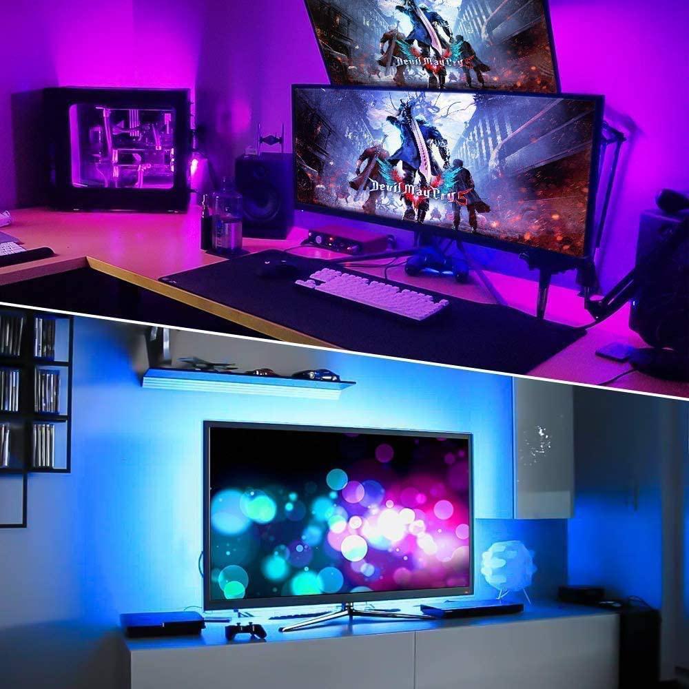 5v USB Interface RGB LED Light Strip Room Light with 3 Key Controller_3