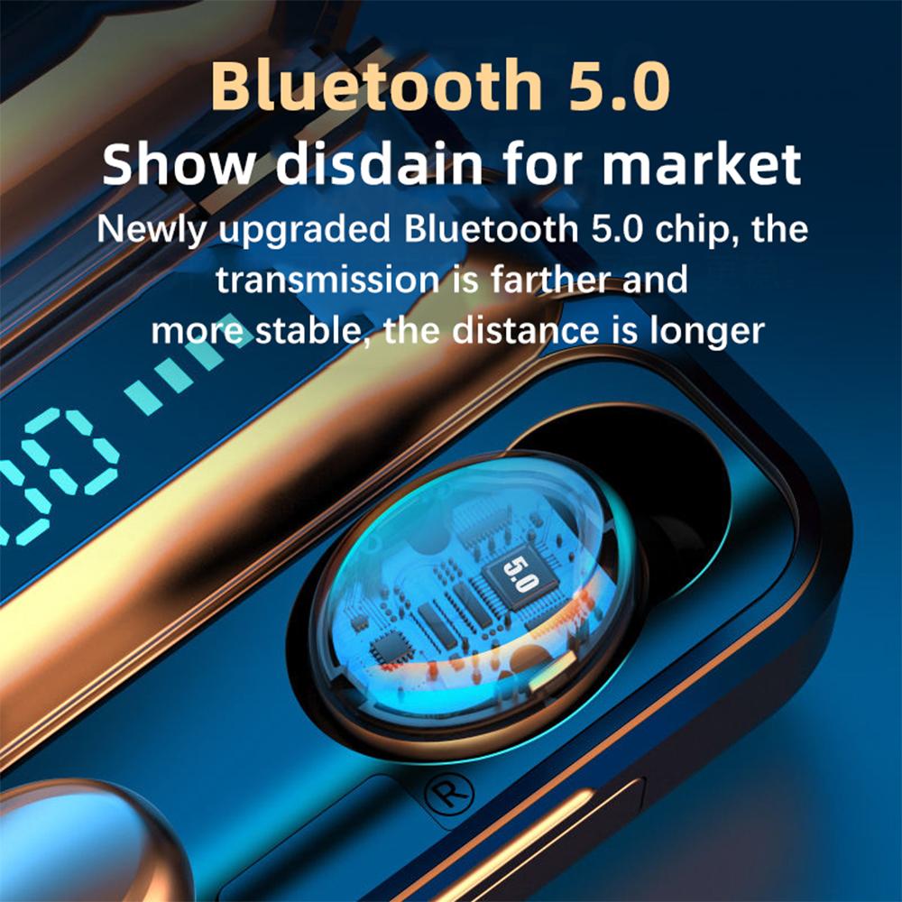 TWS 2200mAh Bluetooth 5.0 Wireless In-Ear Waterproof Earbuds Touch Control Headphones_3