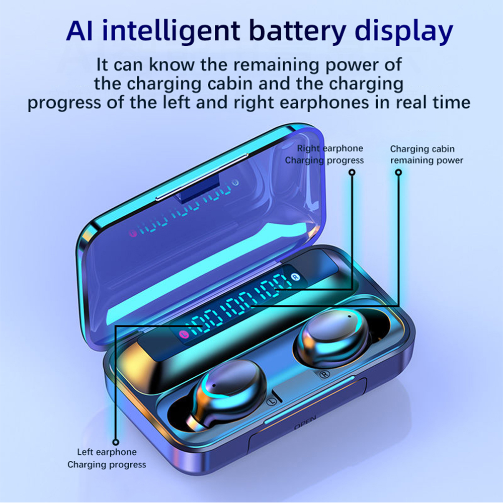 TWS 2200mAh Bluetooth 5.0 Wireless In-Ear Waterproof Earbuds Touch Control Headphones_4