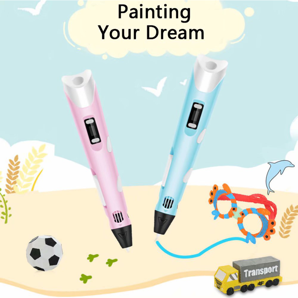 Magic 3D Printing Pen for Kids DIY Pen with LED Display and Filaments_1