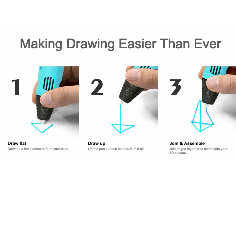 Magic 3D Printing Pen for Kids DIY Pen with LED Display and Filaments_5
