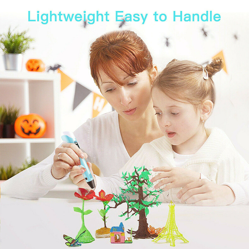 Magic 3D Printing Pen for Kids DIY Pen with LED Display and Filaments_8