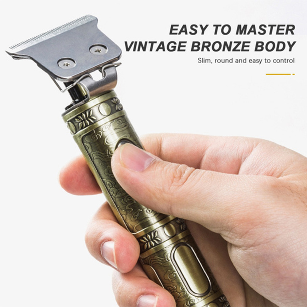 Retro Style USB Rechargeable Cordless Electric Hair Trimmer for Professional and Home Use_9