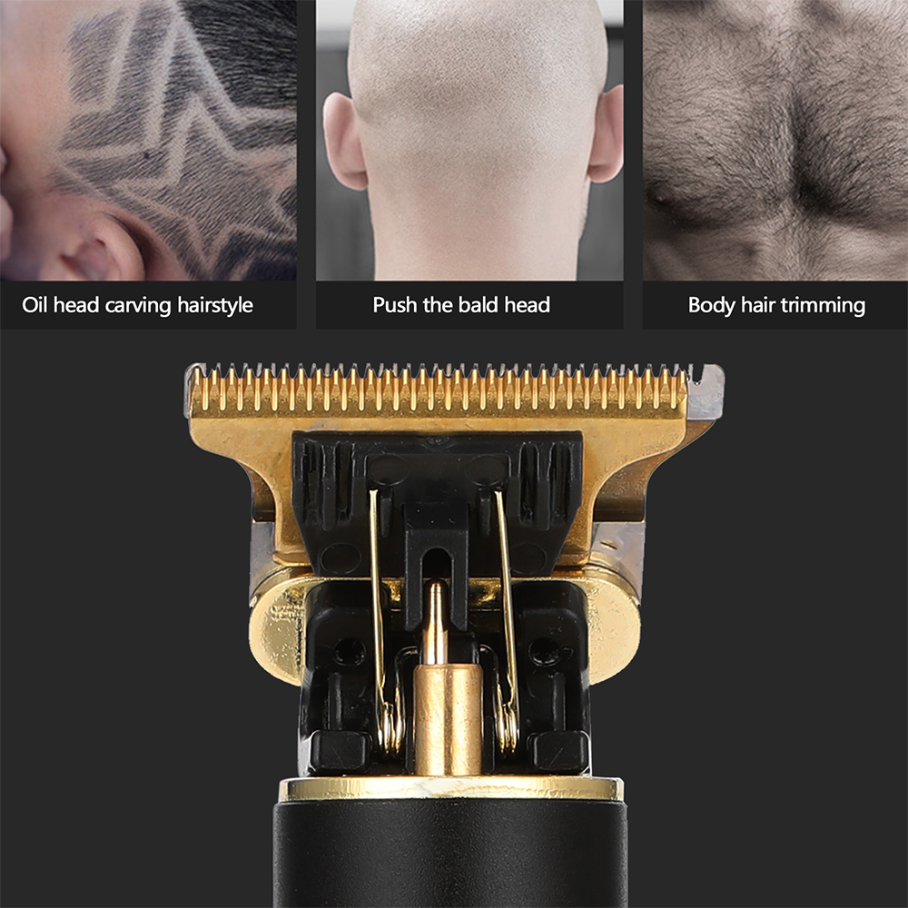 Retro Style USB Rechargeable Cordless Electric Hair Trimmer for Professional and Home Use_4