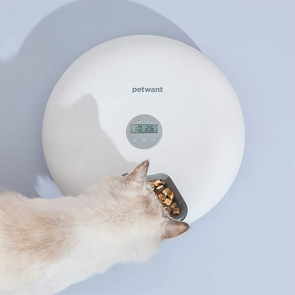 Intelligent Wet & Dry Food Dispenser 6-Compartments 180ml Cat and Dog Pet Auto-Feeder_2