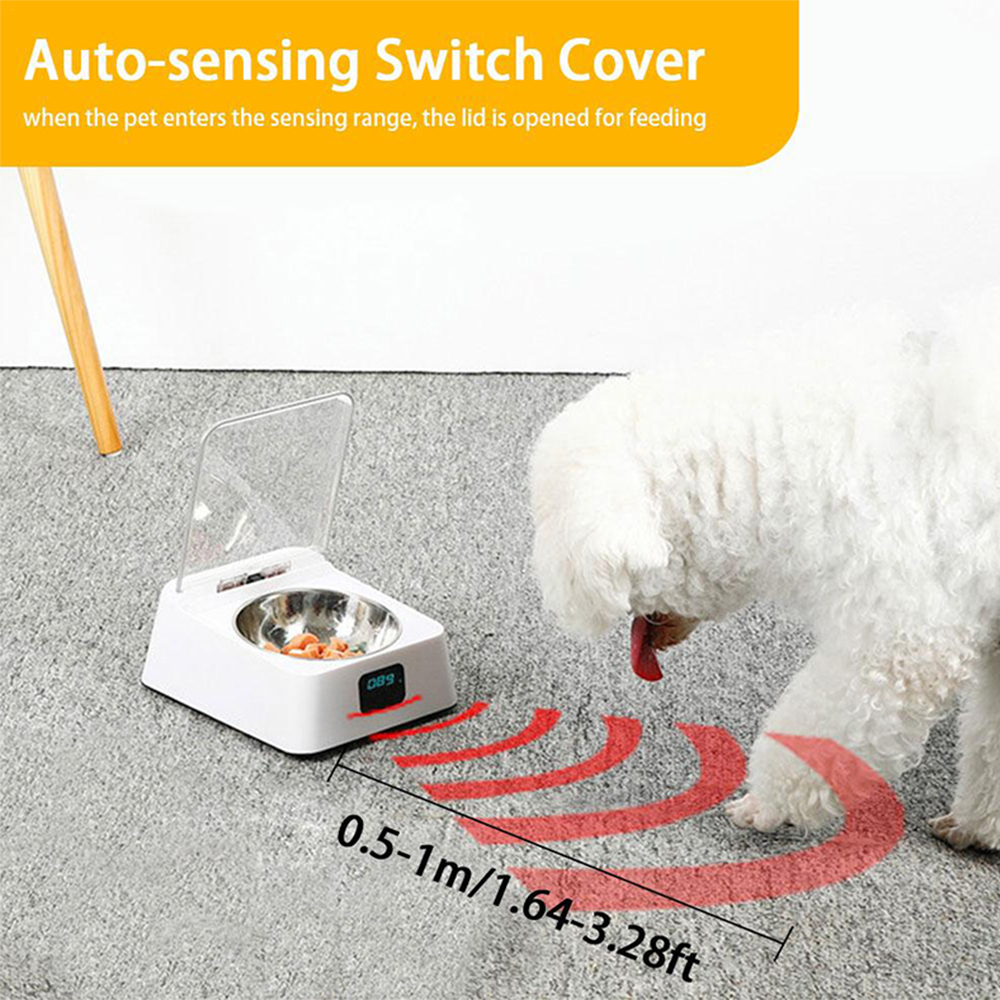 Infrared Sensor Automatically Opens Cover Cat and Dog Feeder Smart Pet Food Bowl_9