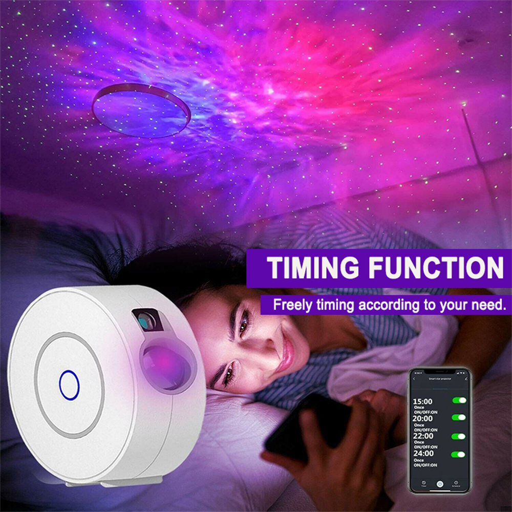 LED Night Light Star Projector with Nebula Cloud, Smart WIFI Bluetooth Projector for App Control_8