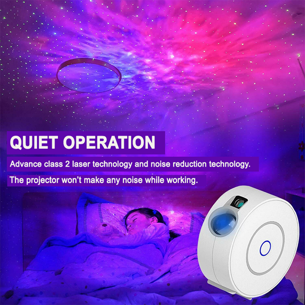 LED Night Light Star Projector with Nebula Cloud, Smart WIFI Bluetooth Projector for App Control_9