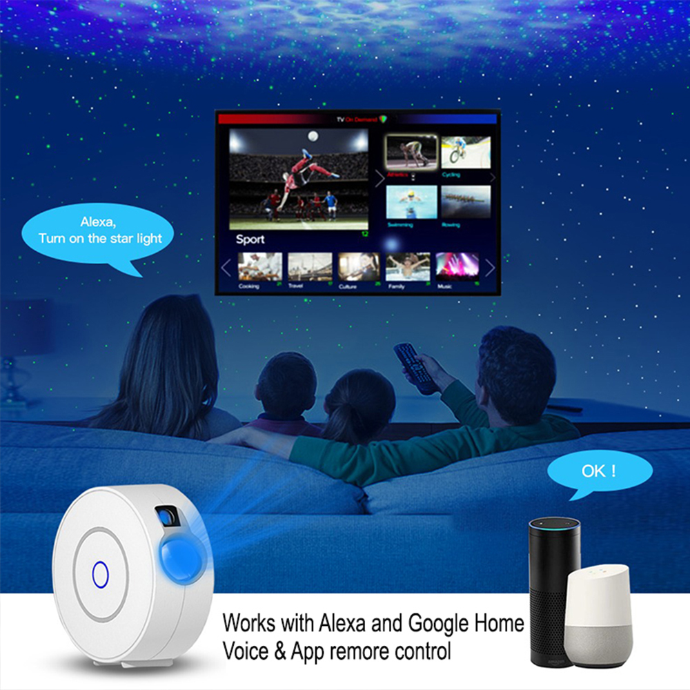 LED Night Light Star Projector with Nebula Cloud, Smart WIFI Bluetooth Projector for App Control_3