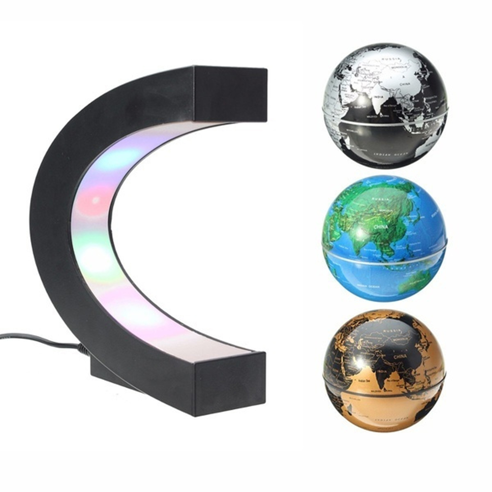 C- Shaped Magnetic Levitation Globe for Desk Table and Home Decoration_5