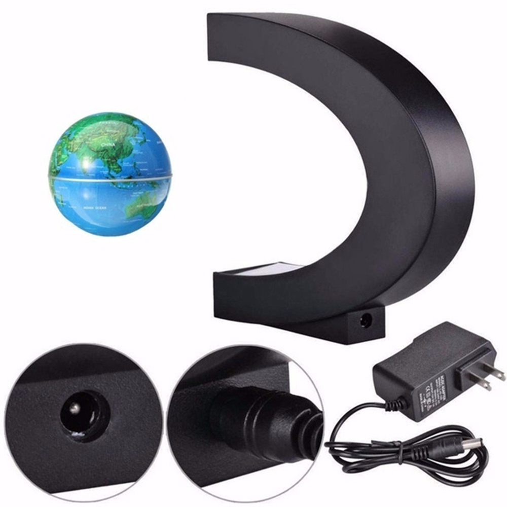 C- Shaped Magnetic Levitation Globe for Desk Table and Home Decoration_2