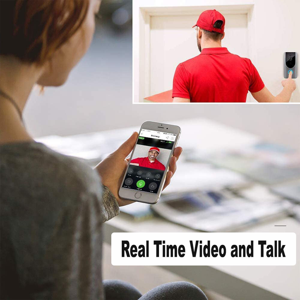 Smart Wireless Wi-Fi HD Video Doorbell for Home Protection and Home Security_5
