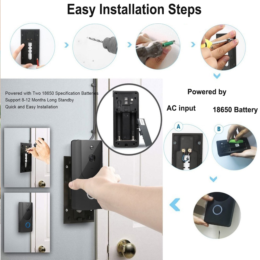 Smart Wireless Wi-Fi HD Video Doorbell for Home Protection and Home Security_8