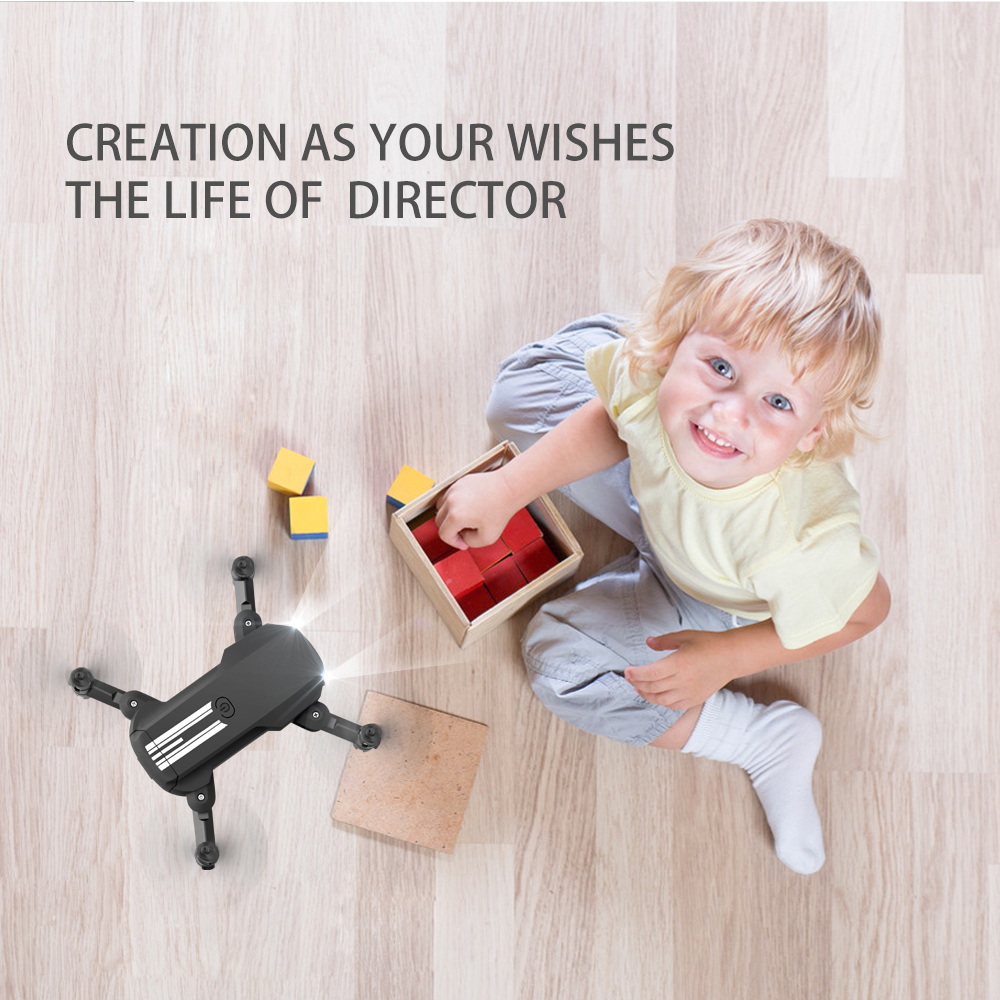 USB Rechargeable 4K Resolution Mini Folding Drone with Remote Control_6
