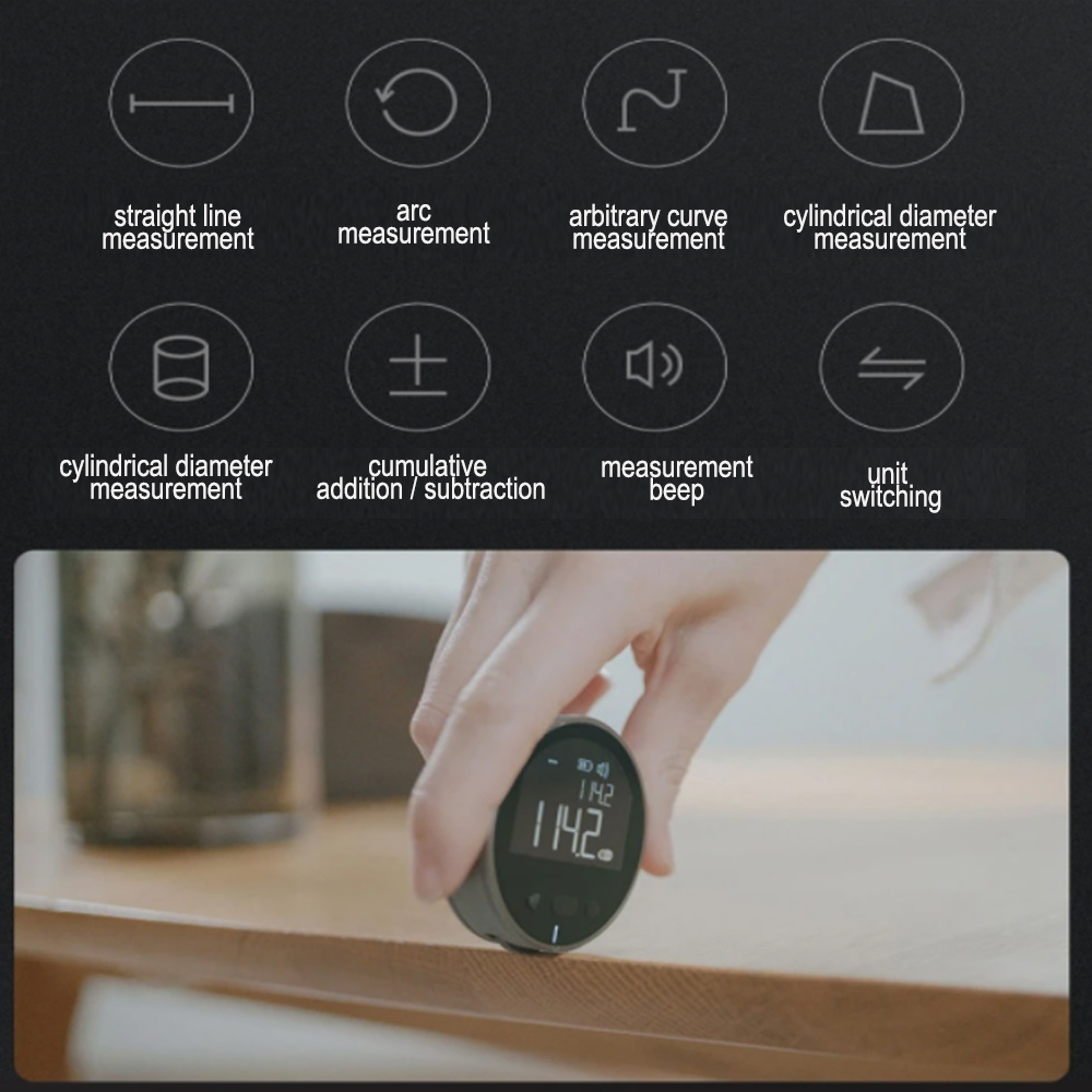 Multi-Surface Electronic Ruler Multi-Functional Measurement Tool with Digital Display_8