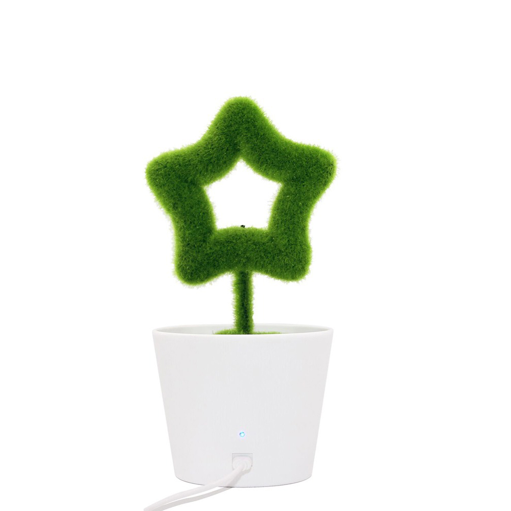 USB Powered Portable Green Plant Negative Ion Desktop Air Purifier_2