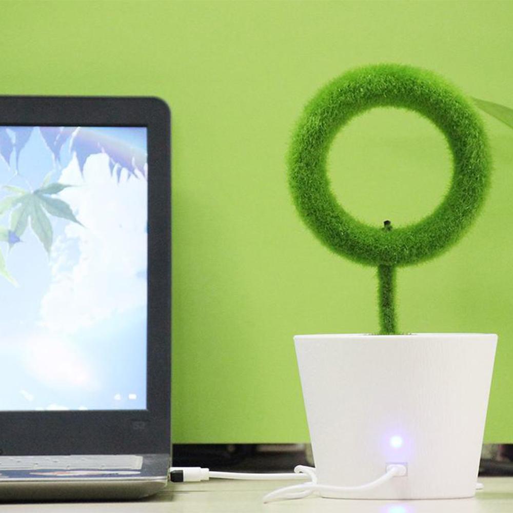 USB Powered Portable Green Plant Negative Ion Desktop Air Purifier_3