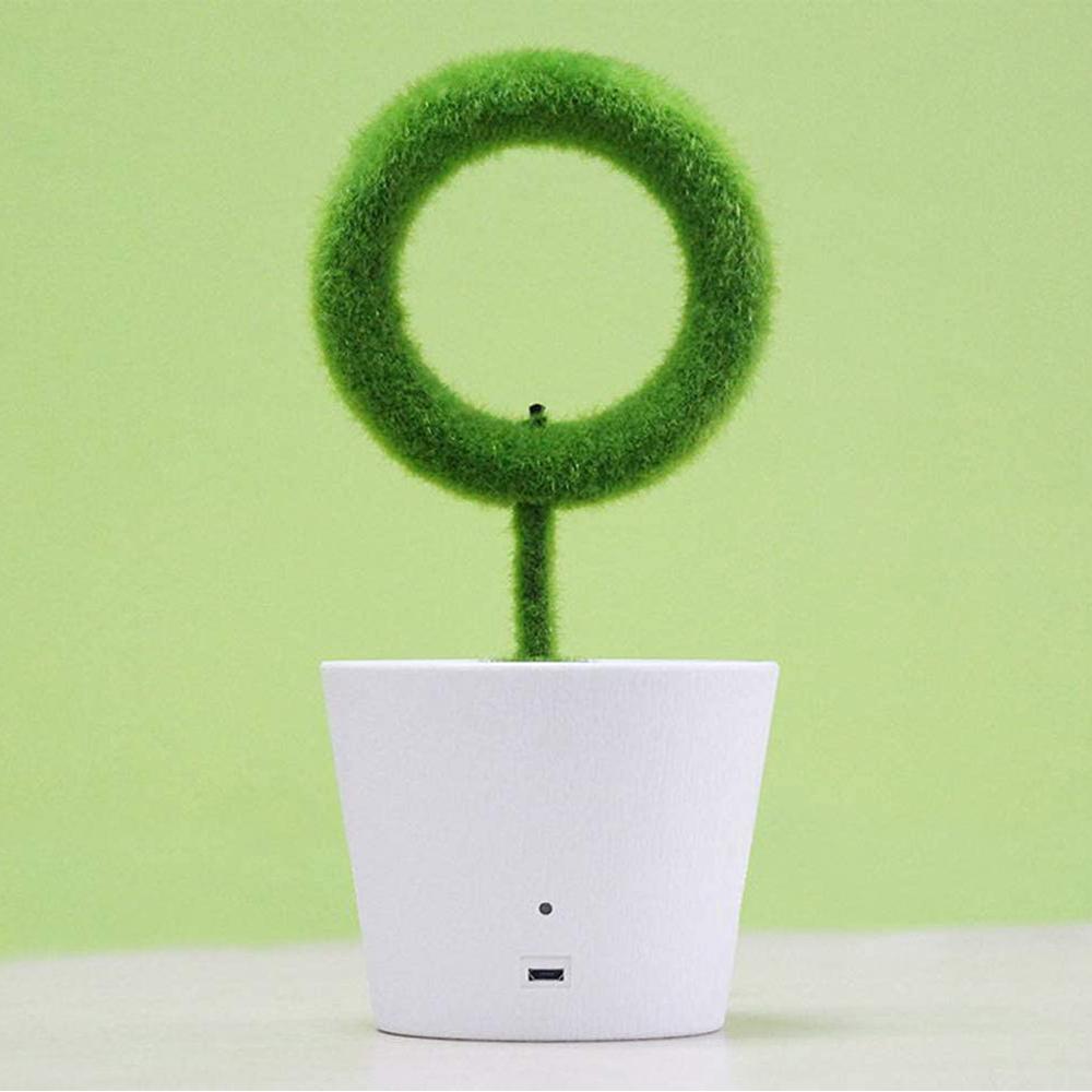 USB Powered Portable Green Plant Negative Ion Desktop Air Purifier_6