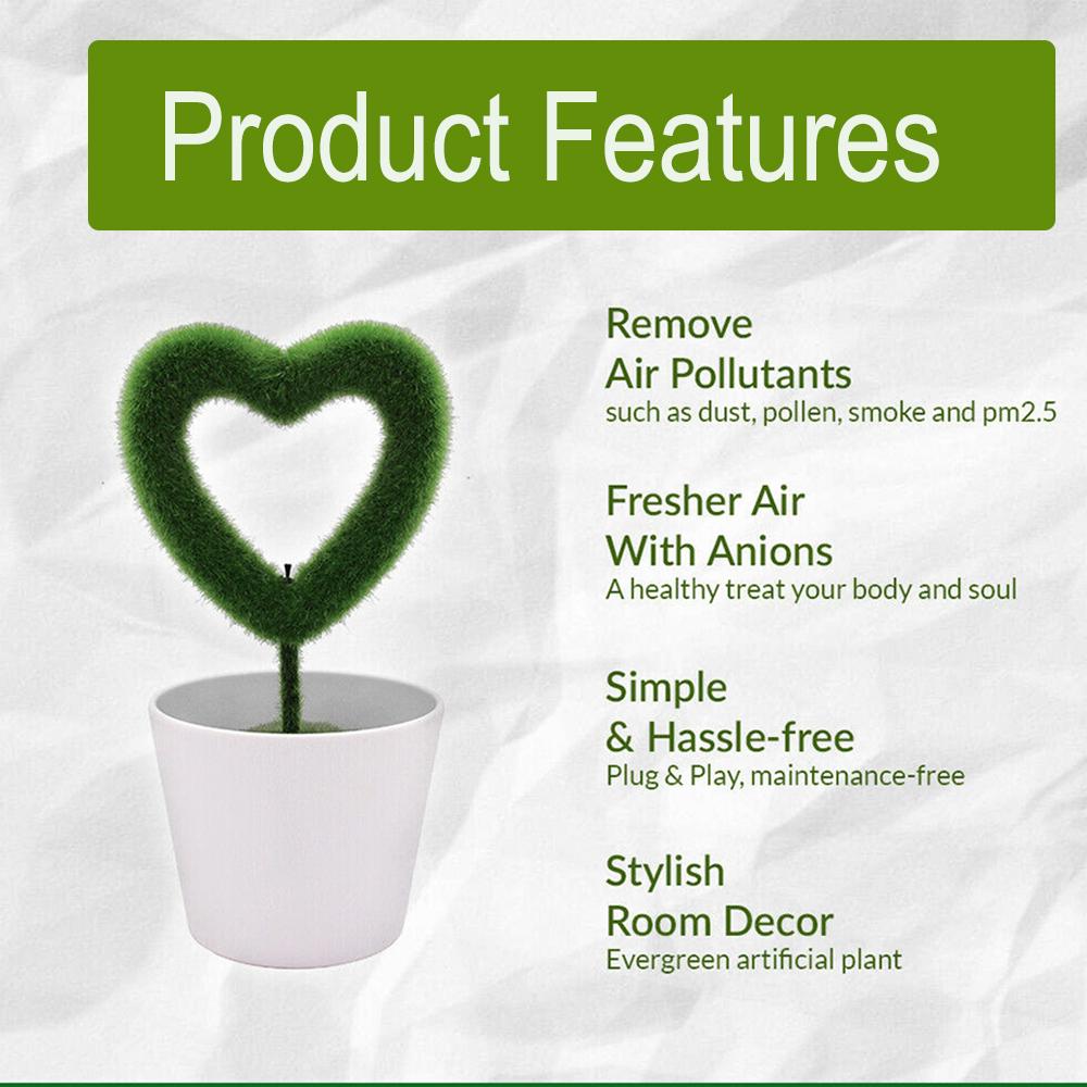 USB Powered Portable Green Plant Negative Ion Desktop Air Purifier_9