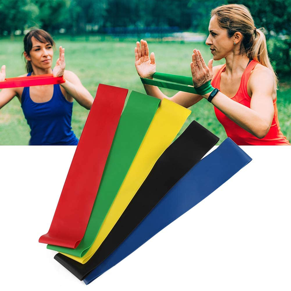 5-Pc Skin Friendly Different Levels Yoga Resistance Bands_9