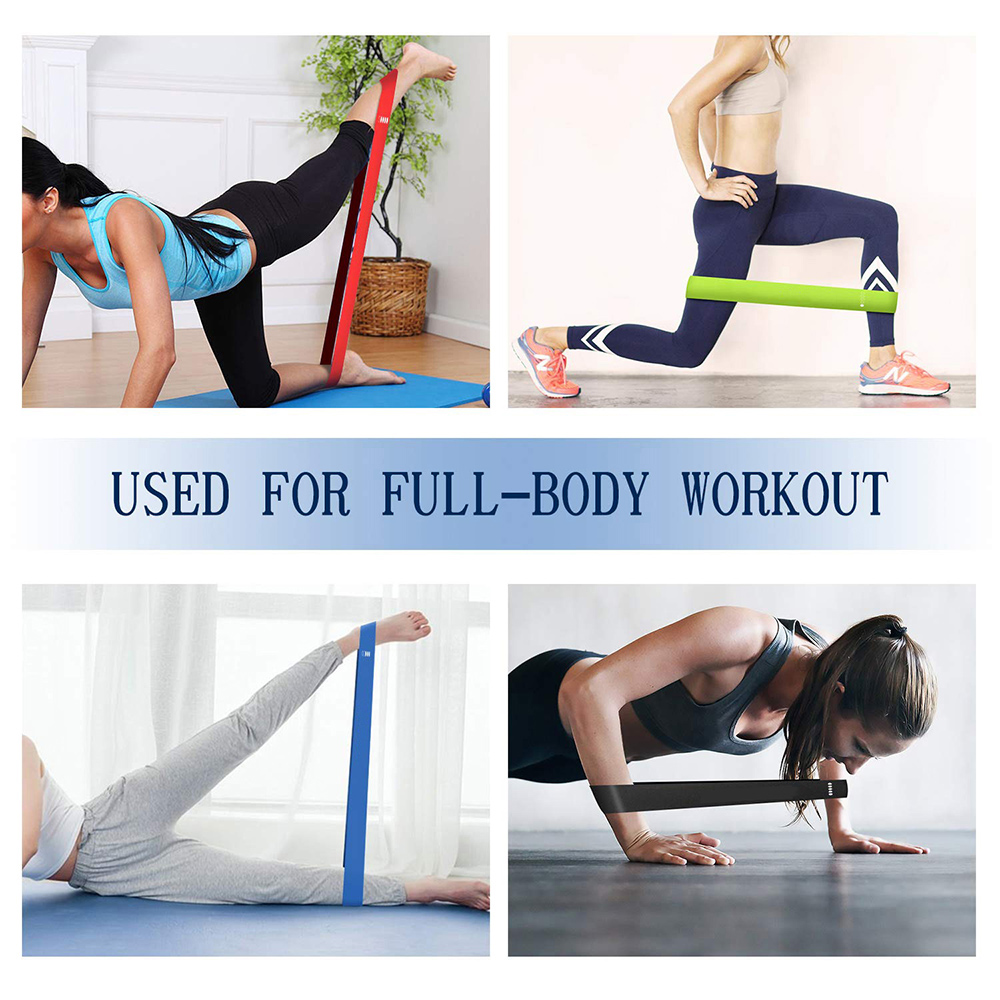 5-Pc Skin Friendly Different Levels Yoga Resistance Bands_5