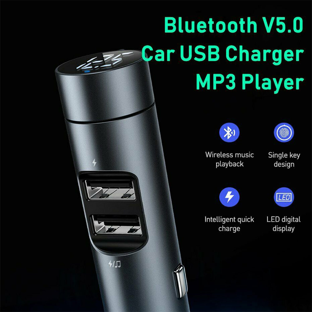 Wireless Car Bluetooth Transmitter and Charger Column Style_3