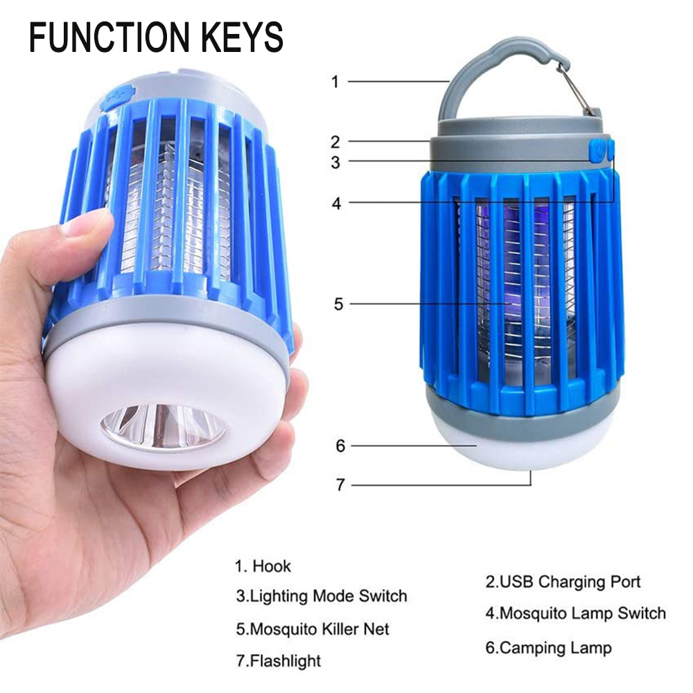 Solar Powered LED Outdoor Light and Mosquito Killer USB Charging_5