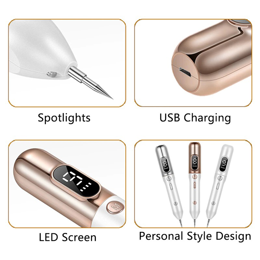 9 Speed LCD Display Mole, Pimple, Tag, Tattoo, and Warts Remover_8