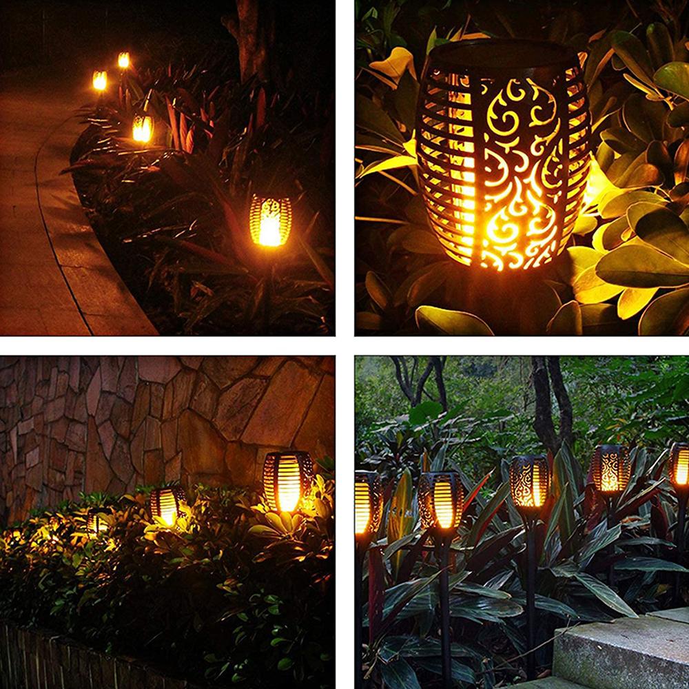 12 LED Light Solar Powered Flame Torch Decorative Light_7