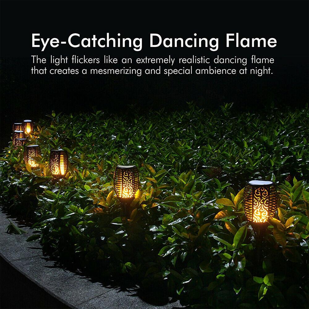 12 LED Light Solar Powered Flame Torch Decorative Light_4
